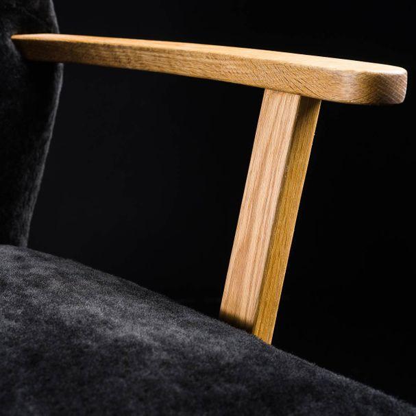 ALPINA | Sessel Lammfell schwarz – Bild $_i