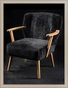 ALPINA | Sessel Lammfell schwarz 001