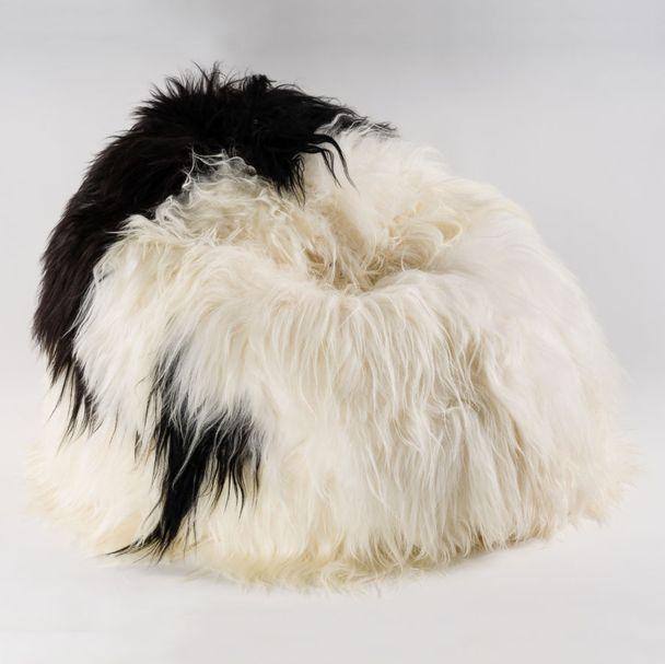 BEAN BAG | Sheepskin black and white – Bild $_i