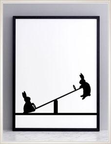 HAM ILLUSTRATION | Seesawing Rabbit