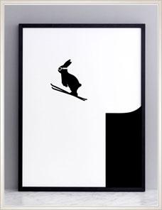 HAM ILLUSTRATION | Ski Jumping Rabbit
