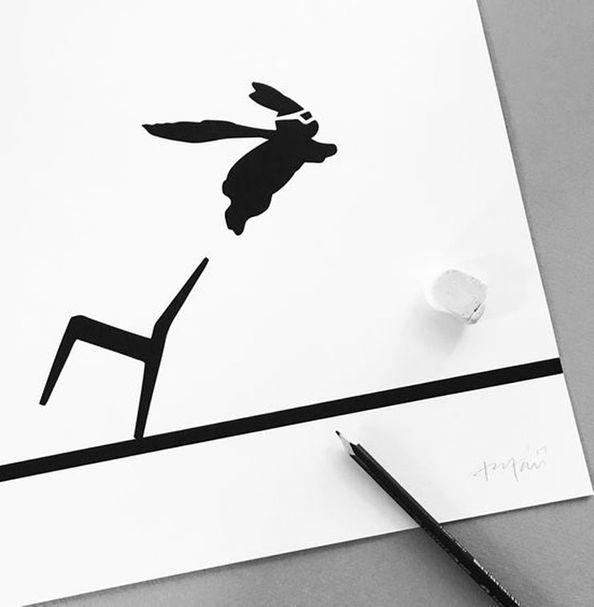 HAM ILLUSTRATION | Yoga Rabbit – Bild $_i