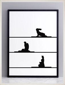 HAM ILLUSTRATION | Yoga Rabbit 001