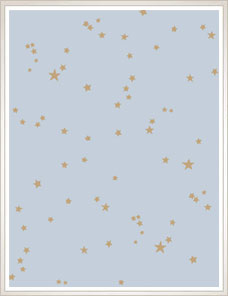 WHIMSICAL | Stars Wallpaper, pastel blue