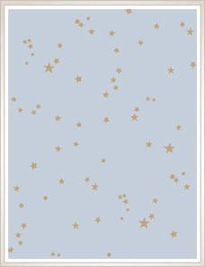 WHIMSICAL | Stars Wallpaper, pastel blue