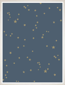 WHIMSICAL | Stars Wallpaper, night blue