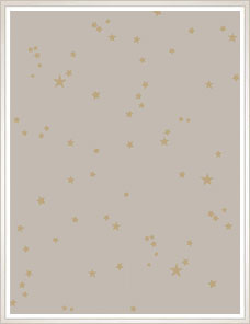 WHIMSICAL | Stars Wallpaper, taupe