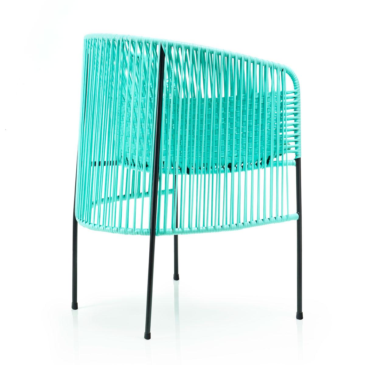 AMES CARIBE | Stuhl - mint, grün, schwarz