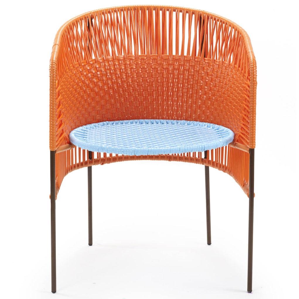 AMES CARIBE | Stuhl - orange, türkis, braun