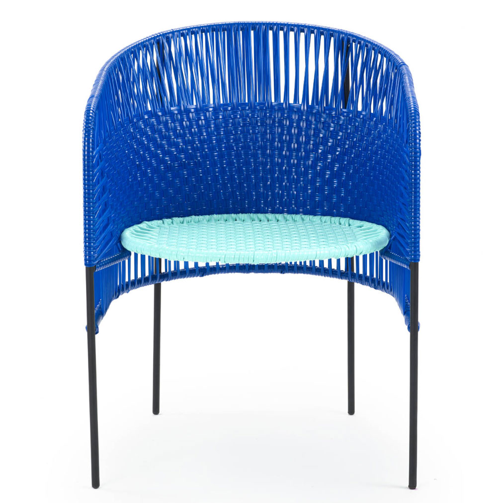 AMES CARIBE | Stuhl - blau, mint, schwarz