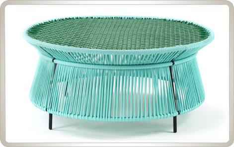 AMES CARIBE | Niedriger Tisch - mint, grün, schwarz