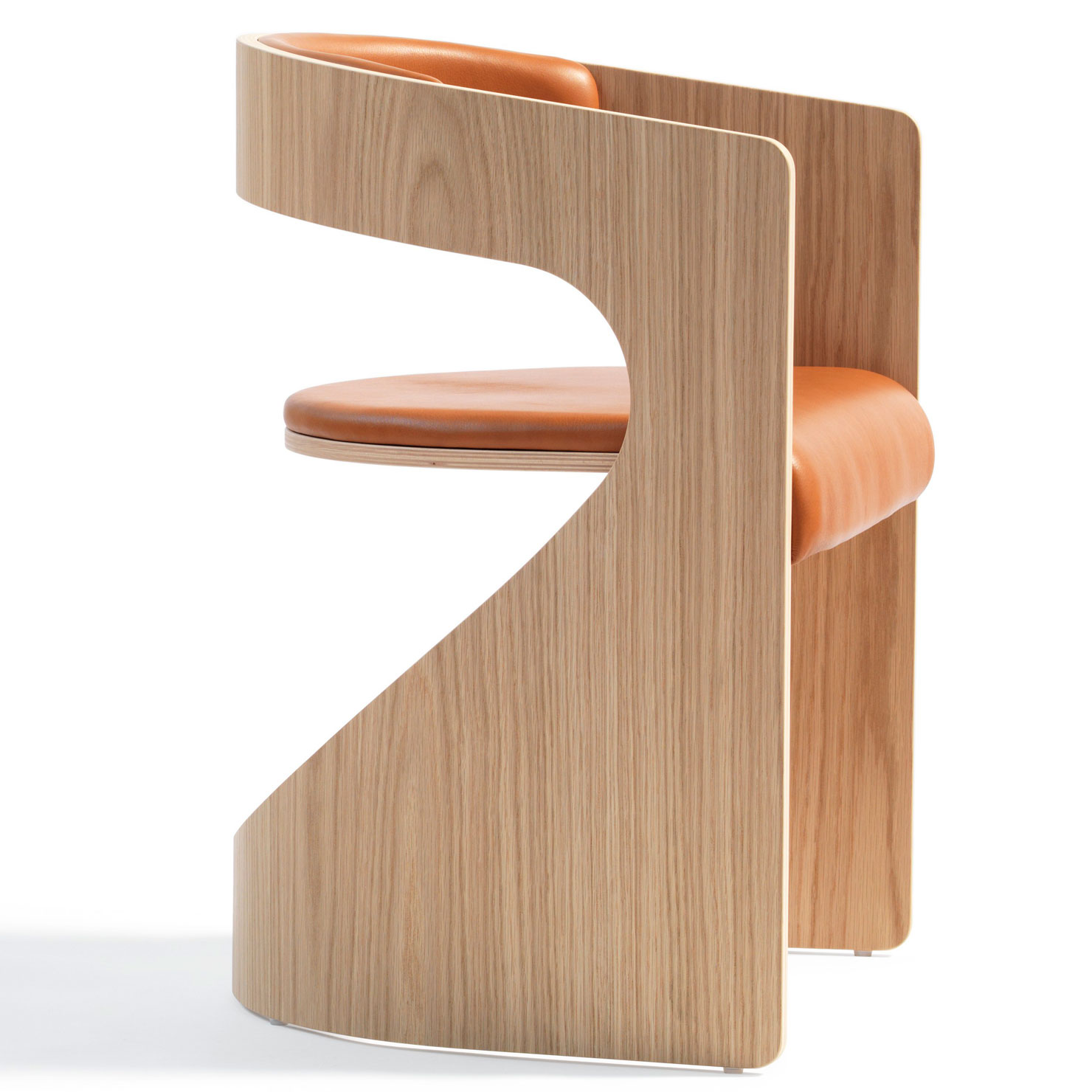BLA STATION | Lucky Chair - Holz, Leder cognac