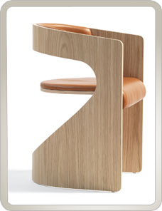 BLA STATION | Lucky Chair - Holz, Leder cognac 001