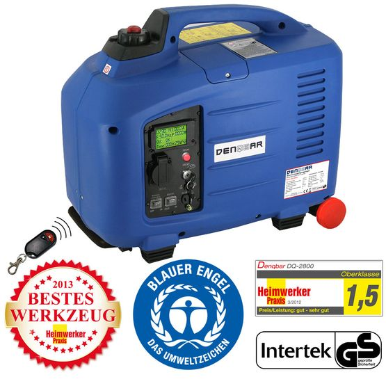 REMOTE & E-START 2,8 kW Digitaler Inverter Stromerzeuger, Generator benzinbetrieben