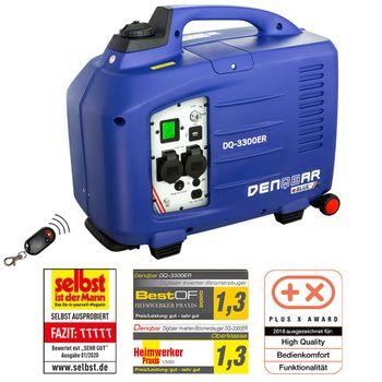 eBLUE® REMOTE & E-START 3,3 kW Digitaler Inverter Stromerzeuger, Generator benzinbetrieben