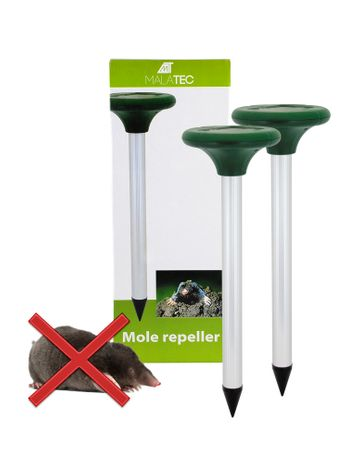 Solar ultrasonic marten terrier 2 pcs. Mole rodent mouse 400-1000 Hz to 500m2 219