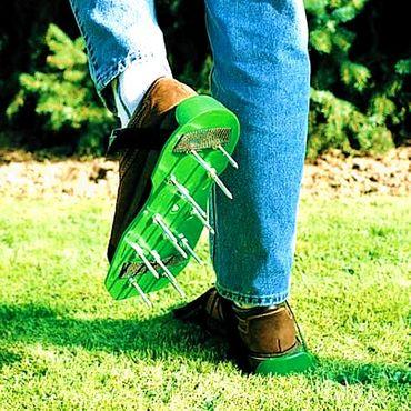 Rasenbelüfter Sandalen Vertikutierer Rasenlüfter Nagel-Schuhe Rasen Universal #021 – Bild 7