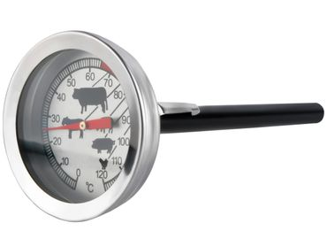 THERMOMETER FOR COOKING • mercury free • excellent analog thermometer • 0 - 120 ° C • probe holder • #465