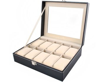 Elegant Box Organizer for Watches - Case 10 Compartments Box  1369
