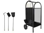 TROLLEY FOR WOOD • accessories • metal powder coated • functional • stable construction • weatherproof • #811 001