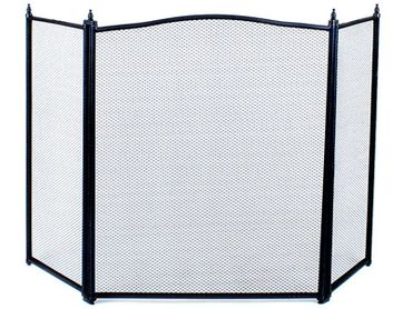 SCREEN FOR FIREPLACE • fireplace cover • steel • powder coated • durable mesh protects the sparks from the fireplace • metal legs provide stability • #833