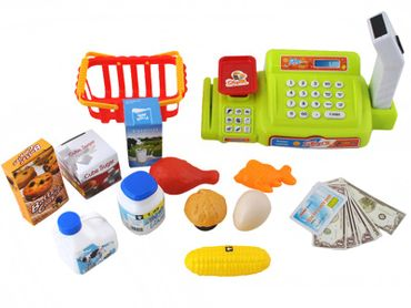 Cash Register With Accesories Kid Toy Set Store 1535