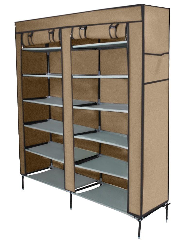 Zapatero mueble para calzado armario plegable estanter a for Armario zapatero de tela