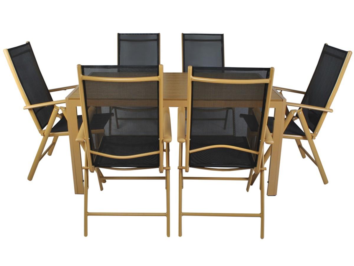 Juego de jard n 7 piezas muebles aluminio asiento varias plazas gartenset 3384 ebay for Juego de jardin fundicion aluminio