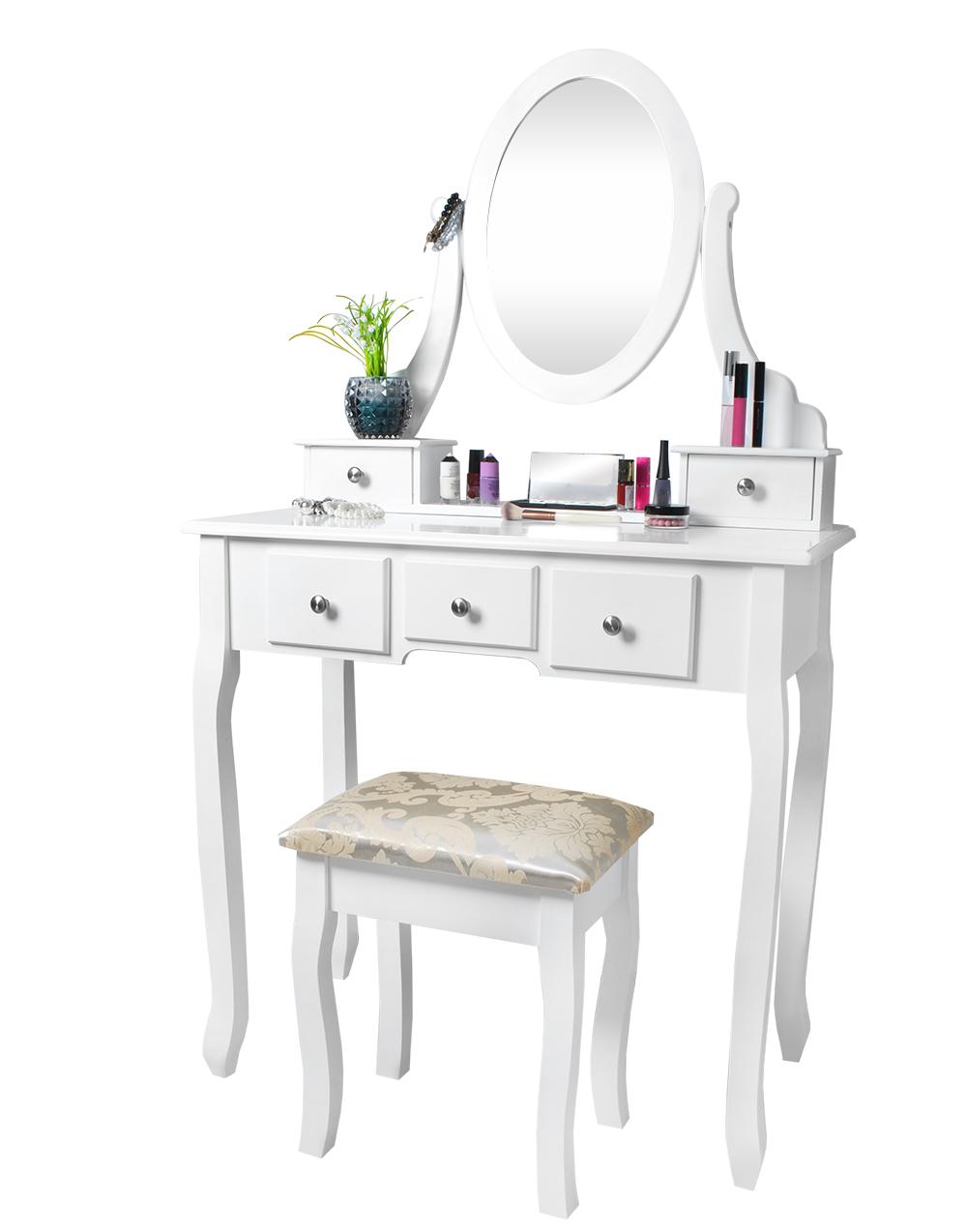 kosmetiktisch schminktisch schminkkommode hocker spiegel 4647 ebay. Black Bedroom Furniture Sets. Home Design Ideas