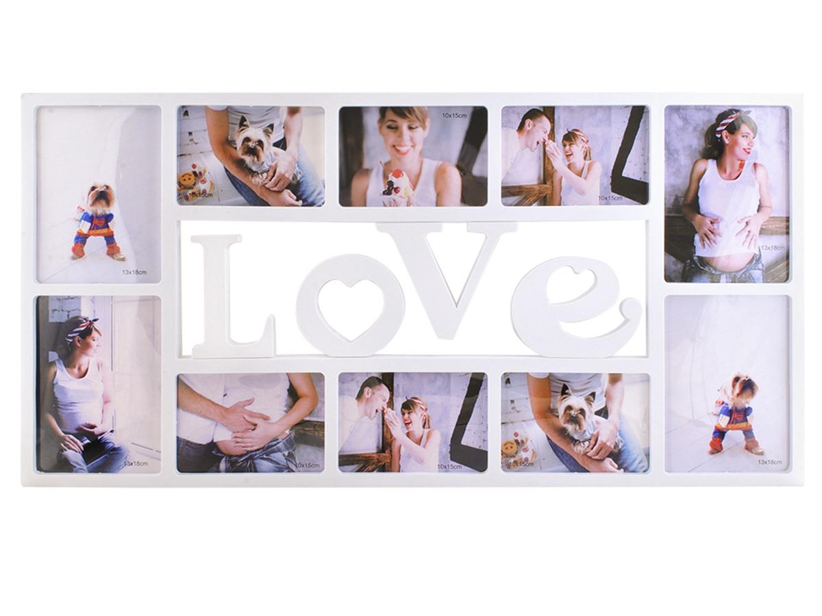 Fotorahmen 10 Bilder Bilderrahmen LOVE 6 Fotos 10x15 cm 4 Fotos ...