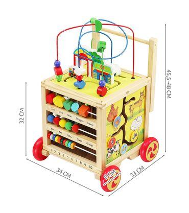 Lauflernwagen Holz Motorikspielzeug Bunt Baby Kleinkind 3+ Lernen Spielen Motorikspielzeug 6518 – Bild 2