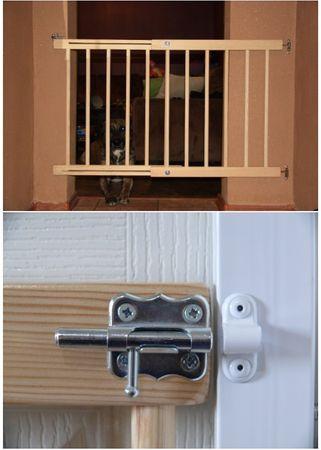 Treppenschutzgitter Türgitter Klemmgitter Schutzgitter erweiterbar 72-122 cm Feststellfunktion Türschutzgitter Baby 8257 – Bild 5