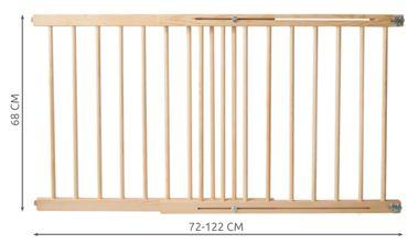 Treppenschutzgitter Türgitter Klemmgitter Schutzgitter erweiterbar 72-122 cm Feststellfunktion Türschutzgitter Baby 8257 – Bild 2