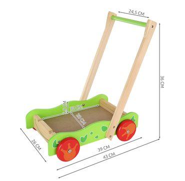 Lauflenhilfe Lauflernwagen aus Holz mit Bauklötzen 9445  – Bild 2