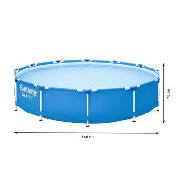 Bestway 56706 Steel Pro Frame Pool ohne Pumpe rund 366x76cm Stahlrahmenpool blau 9881 – Bild 2