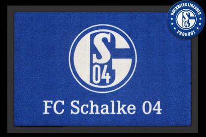 Fußmatt- FC Schalke 04 LOGO 60x40 cm Türmatte,Vereins-Türmatte, Fußball,