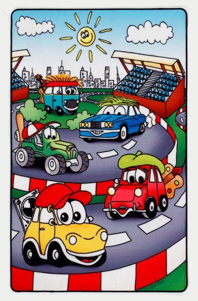Kinderteppich- Lovely Kids- Auto Rennbahn, Kinderzimmer- Junge