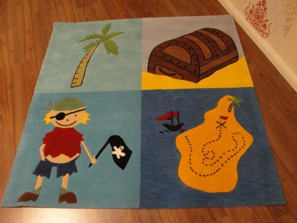Kinderteppich- Schatzinsel 140 x 140 cm Gustav und seine Freunde