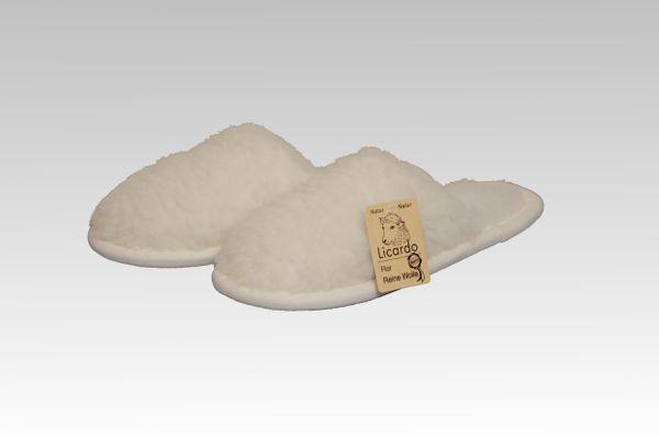 Pantoffel Wolle ecru 42/43