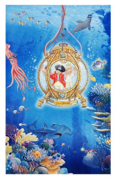 """Kinderteppich- Der Pirat """"Captin Sharky"""" und seine Freunde unter Wasser, Kinderzimmer"""