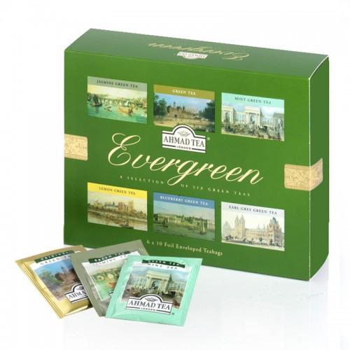 Ahmad Tea Evergreen 6 Sorten Grüntee für Sammler und zum Verschenken