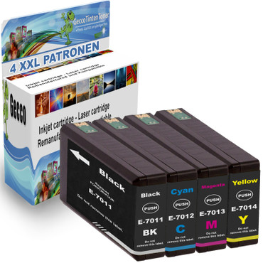 4 Drucker Patronen für Epson Workforce Pro WP-4015 DN WP-4025 DW WP-4095 DW new – Bild 1
