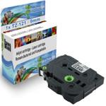 1x Schriftband-Kassette für Brother TZ-121 TZE-121 Schwarz auf Clear 8m/9mm new 001