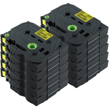 10x Schriftband-Kassetten für Brother TZ-621 TZE-621 Schwarz auf Gelb 8m/9mm new – Bild 2