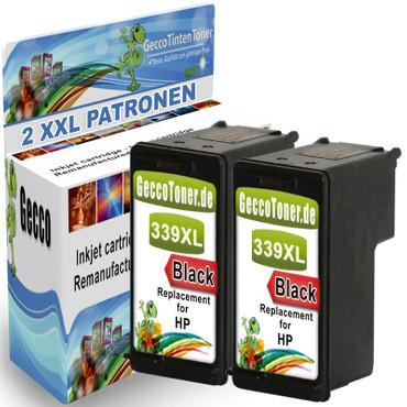 2 Refill Drucker Patronen für HP 339 XL new – Bild 1