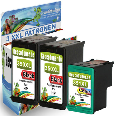 3 Refill Drucker Patronen für HP 350 + 351 XL new – Bild 1