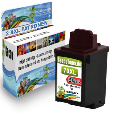 2 Drucker Patronen für Lexmark 70 XL new – Bild 1