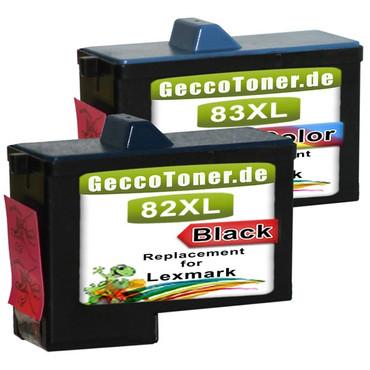 2 Drucker Patronen für Lexmark 82 + 83 XL new – Bild 2