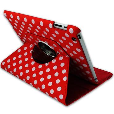 360° gepunktete Schutzhülle für iPad 2 3 4 Standfunktion Tasche Etui Cover Rot