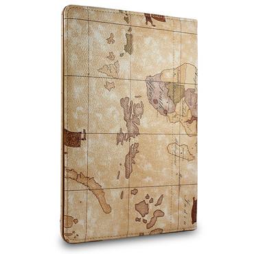 360° Weltkarte Schutzhülle für iPad 2 3 4 Standfunktion Tasche Etui Cover Beige – Bild 2